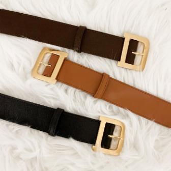 Dabagirl Buckled Leatherette Belt