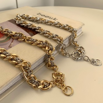 Dabagirl Two-Tone Chunky Chain Necklace