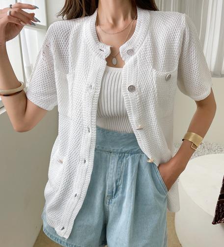 Dabagirl Short Sleeve Button-Up Cardigan