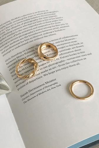 Dabagirl 3-Piece Assorted Metal Ring Set