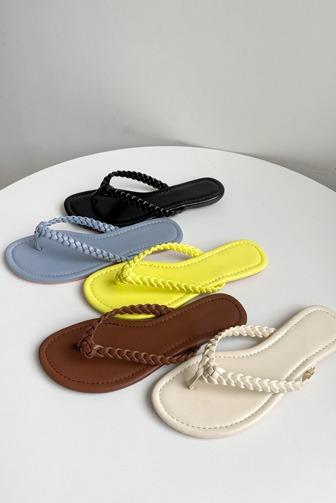 Dabagirl Braided Strap Thong Sandals
