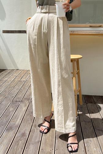 체드미벨트린넨슬랙스_D2PA[B] 오피스룩 하객룩 하객패션 결혼식 데이트룩 여친룩 데일리룩 30대여성쇼핑몰 20대여자쇼핑몰 키작은여자쇼핑몰 여성의류쇼핑몰 블랙슬랙스 베이지슬랙스 하이웨스트