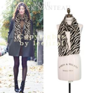 [Tsu-SC562] Stylish zebra scarf-멋스럽죠?한정수량으로 조기품절될수 있어요!