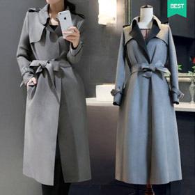 [OT-b409] Suede trench coat- (단독특가50%) (완전 주문폭주) 자신있게 추천하는 멋진 트렌치코트!단품당일출고
