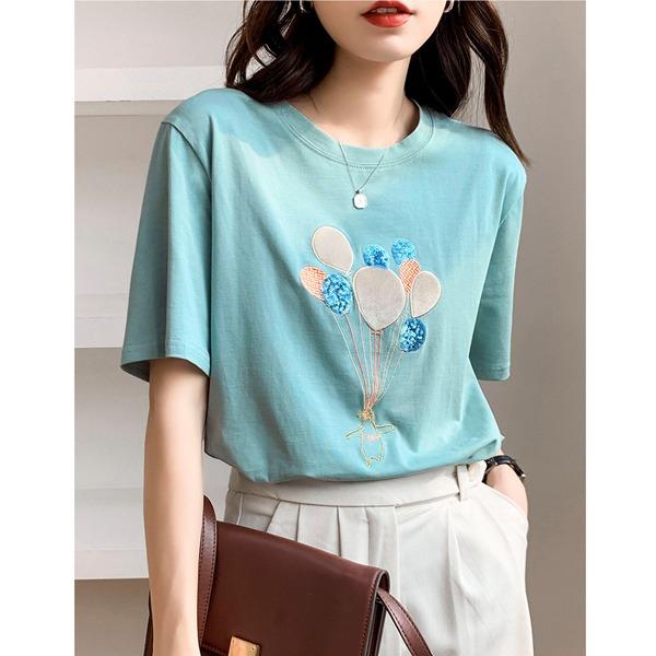[TO-d697]벌룬 티셔츠-포인트있는 디자인이 멋스러운 티셔츠, 인기만점하나만으로도 스타일 굿!.