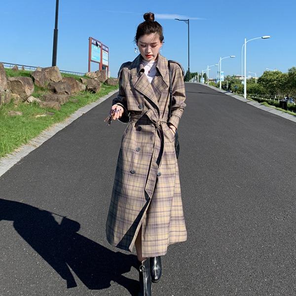 [OT-b973]로랑 체크 트렌치코트- (TIME SALE 30%)주문대폭주 ♥ 단독제작  세련된 스타일~입는 순간 멋스러움을 선사!단품당일출고
