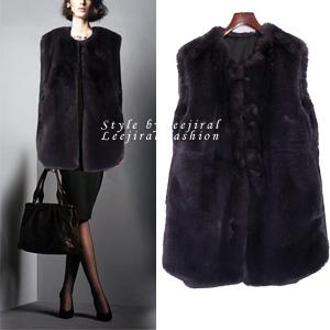 [OT-b168] Luxury fur vest-명품라인! 최고의 고급퍼! 밍크퍼와 같은 윤기나는 텍스쳐로 영국으로 수출되는 고급퍼단품당일출고