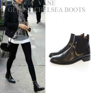 [Vane-SH734] Glossy chelsea boots