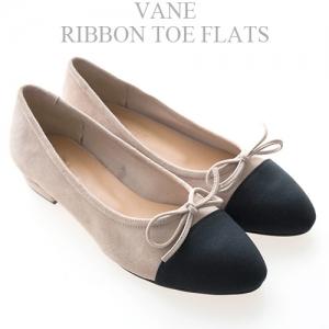 [Vane-SH738] Ribbon toe flats