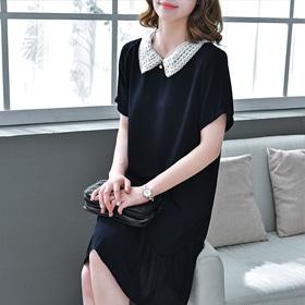 [Vane-OPe102]첼시 블랙 드레스-(TIMESALE 30%)모던하면서도 페미닌감성 가득 ♥️레이스가 여성스러운 포인트! 주문대폭주단품당일출고!