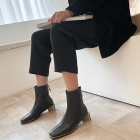[Vane-SH766] 아리아 앵글부츠- 최고급 랩스킨 ♥ 유니크하면서도 세련된 앵글  고급수제화