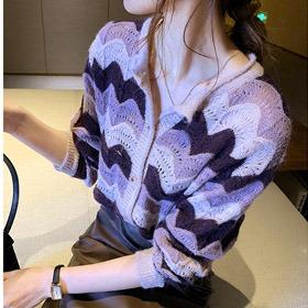 [Vane-KN936]웨이브 가디건- (TIME SALE 30%) 주문대폭주♥유니크한 패턴으로!  입기만해도 스타일리시!♥