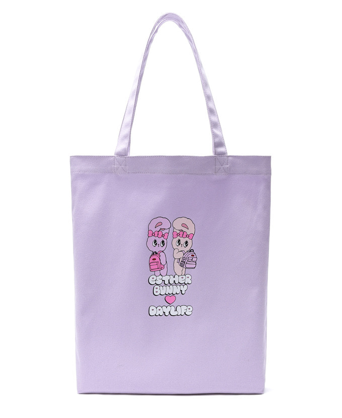 DAYLIFE♥ESTHER BUNNY TWIN ECO BAG(PURPLE)エコバッグ