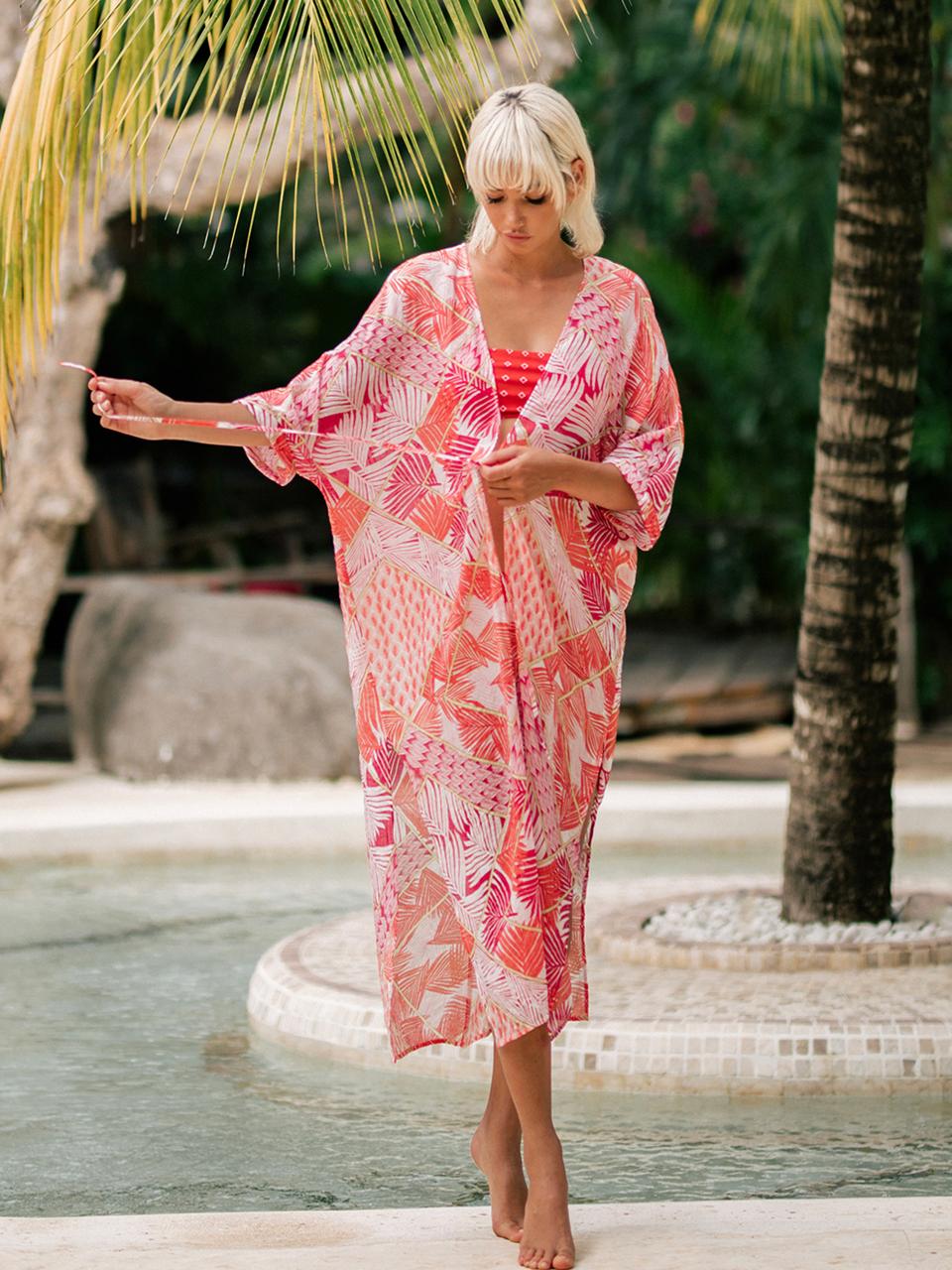 [30%]CORAL PALM ROBEswimwear,수영복,비키니,데이즈데이즈,dazedayz,디자이너수영복,스윔웨어