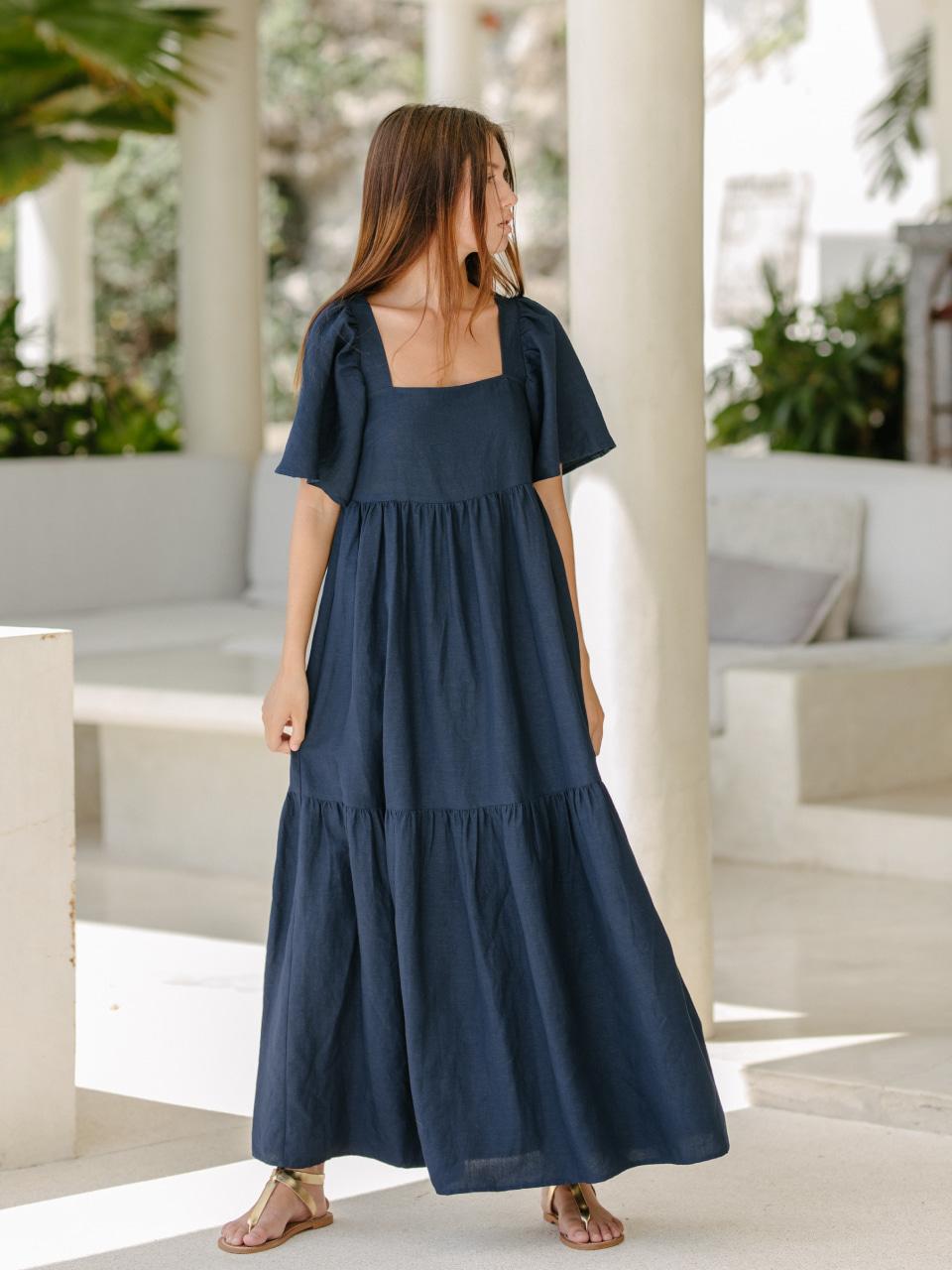 INDIGO MAXI DRESSswimwear,수영복,비키니,데이즈데이즈,dazedayz,디자이너수영복,디자이너스위웨어,디자이너수영복,리조트웨어,