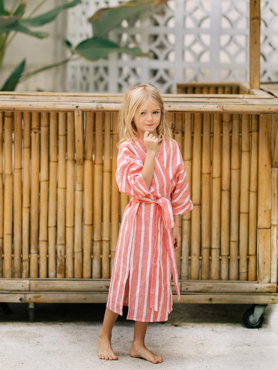 CORAL STRIPE ROBE_KIDSswimwear,수영복,비키니,데이즈데이즈,dazedayz,디자이너수영복,스윔웨어