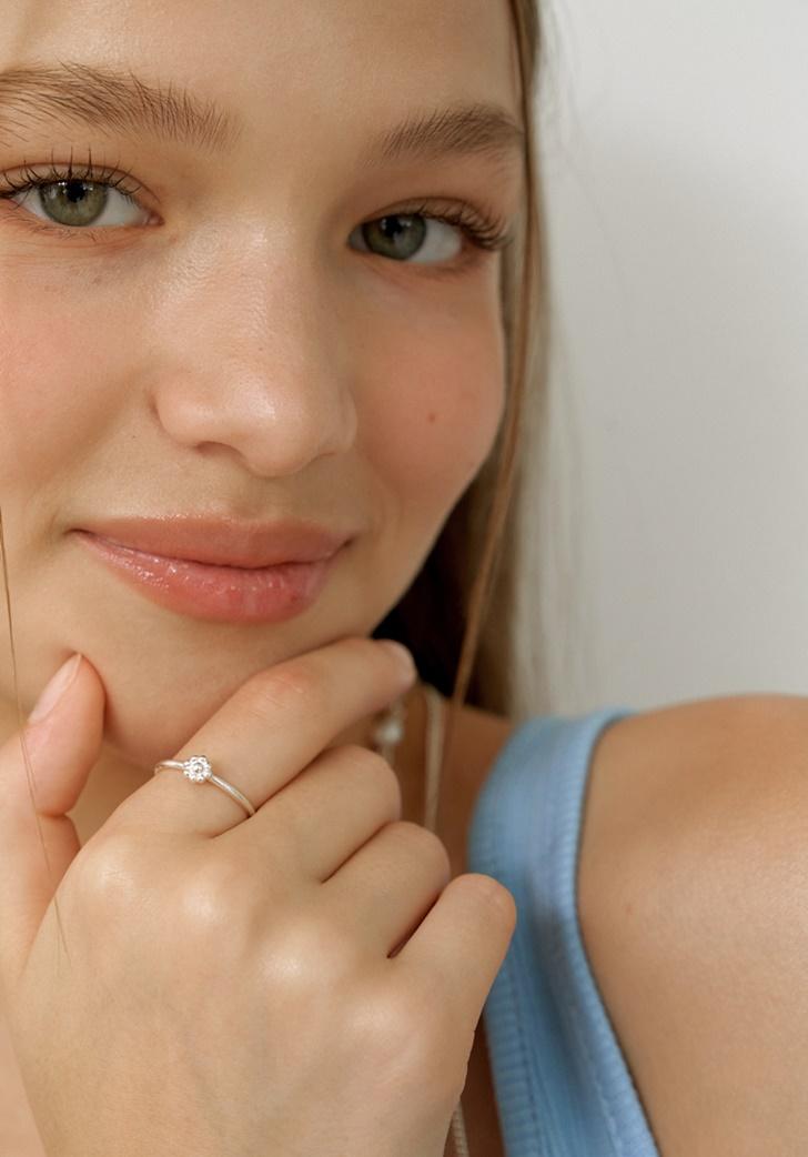 my flower ring #1 (silver 925)