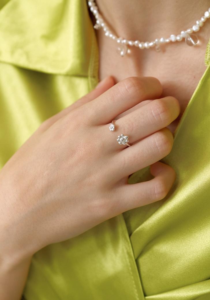 my flower ring #2 (silver 925)