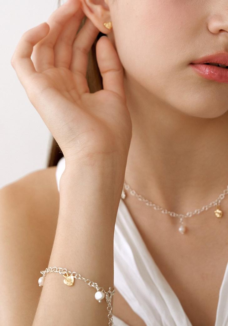 my flower and heart bracelet (silver 925)