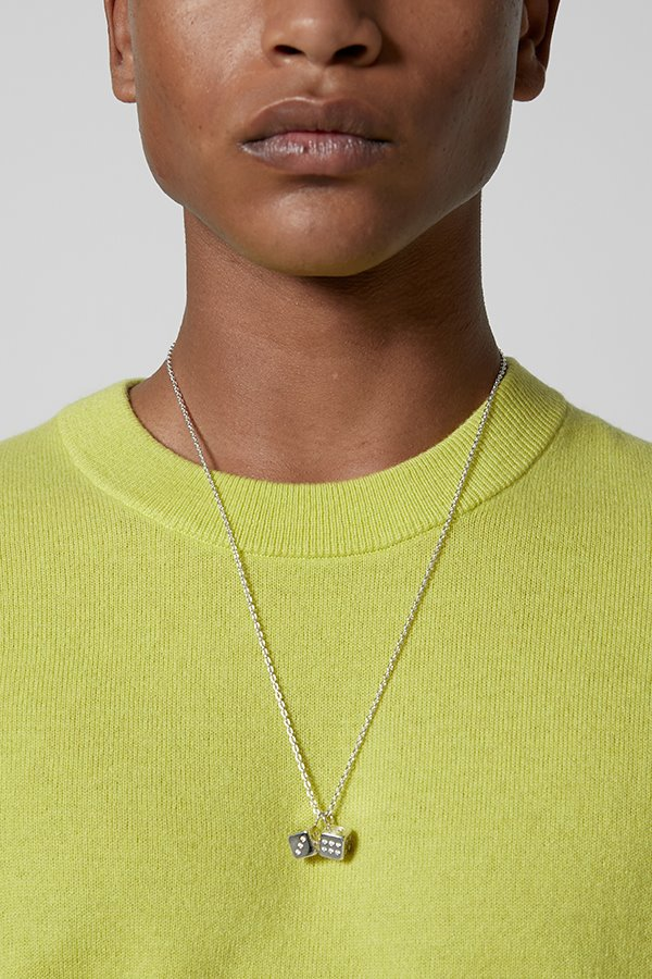 Two dices necklace