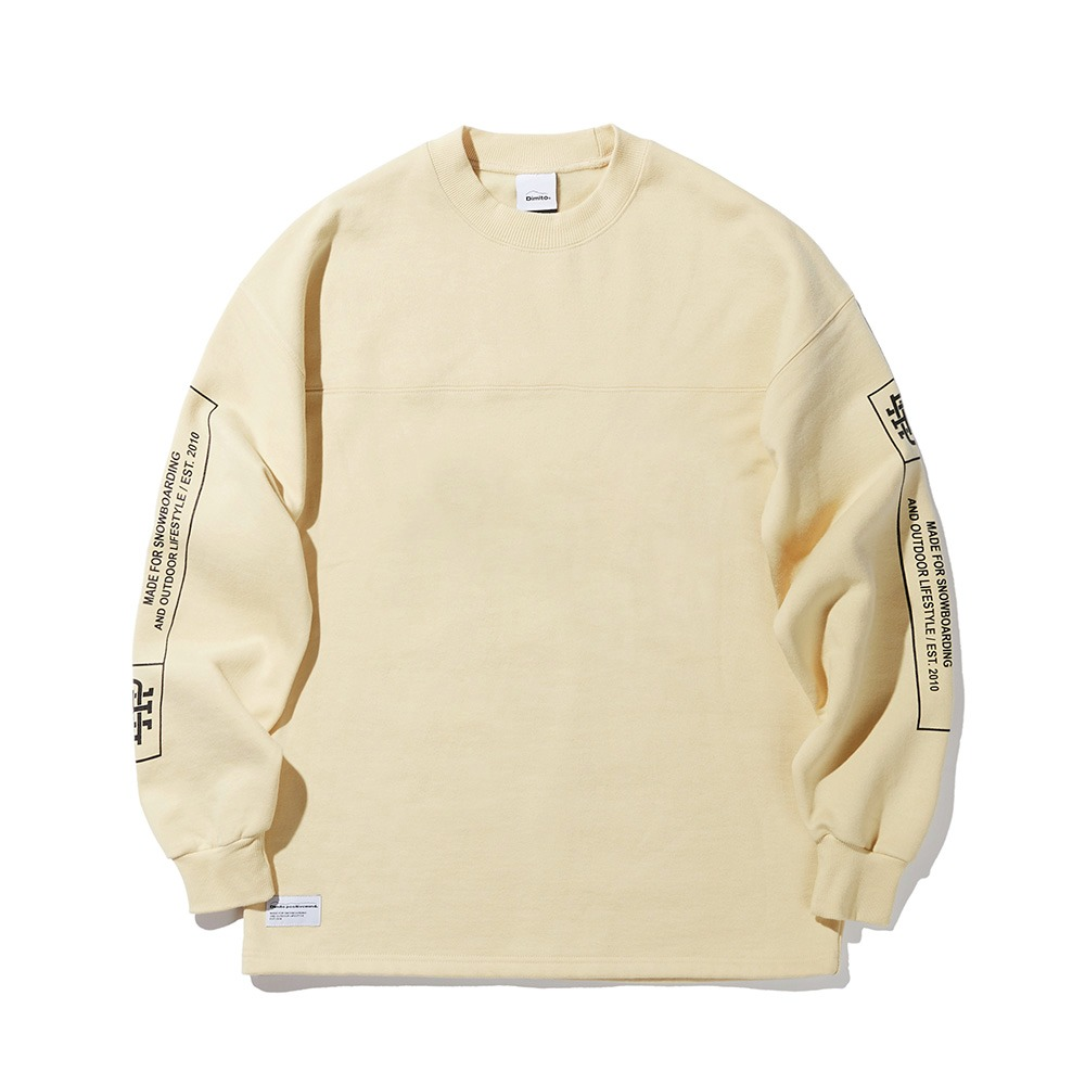 DMT HEAVY WEIGHT LSV TEE YELLOW