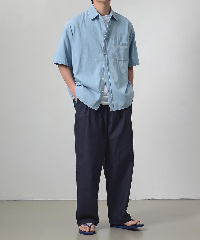 시티보이 숏슬리브 데님 셔츠