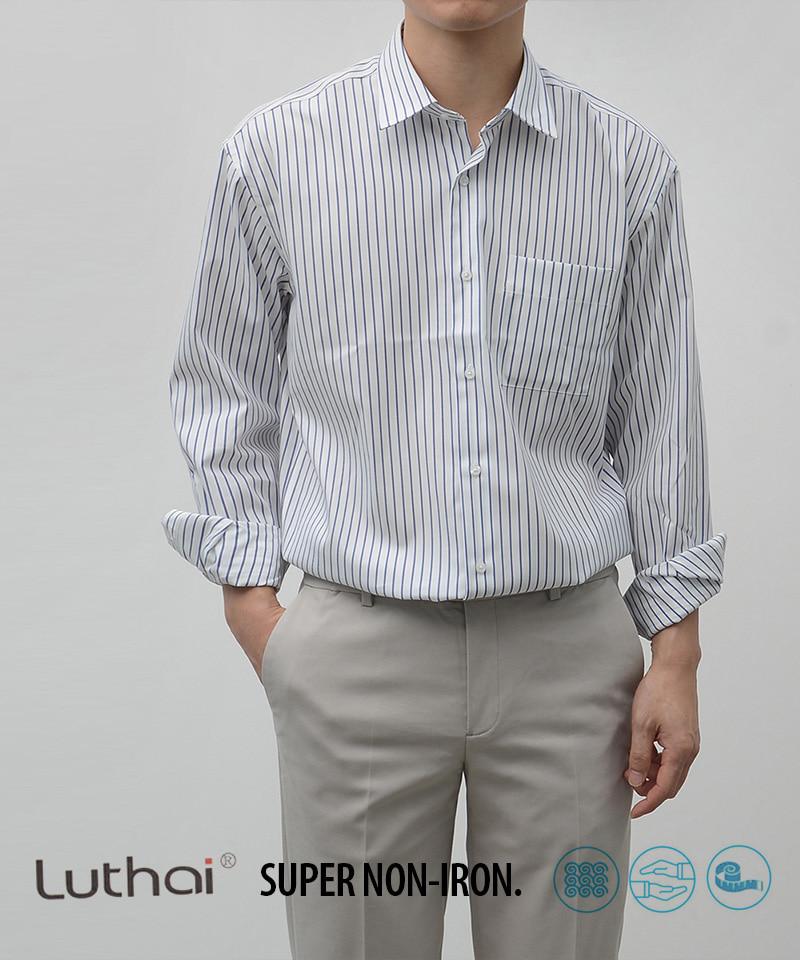 [STND] NON-IRON 스트라이프 셔츠