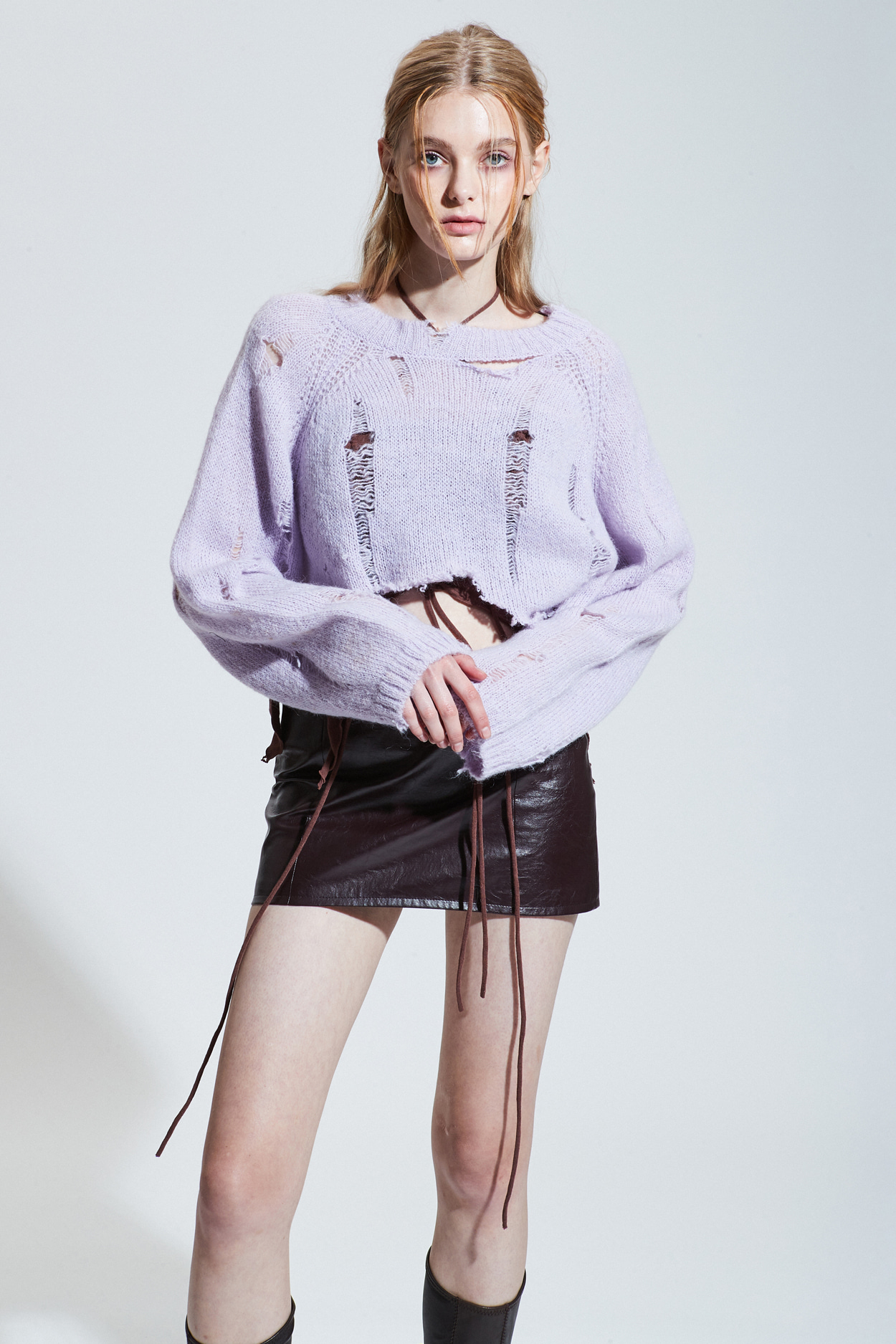 BANSHEE KID MOHAIR KNIT_lavender [Oct.18th Pre-order delivery]