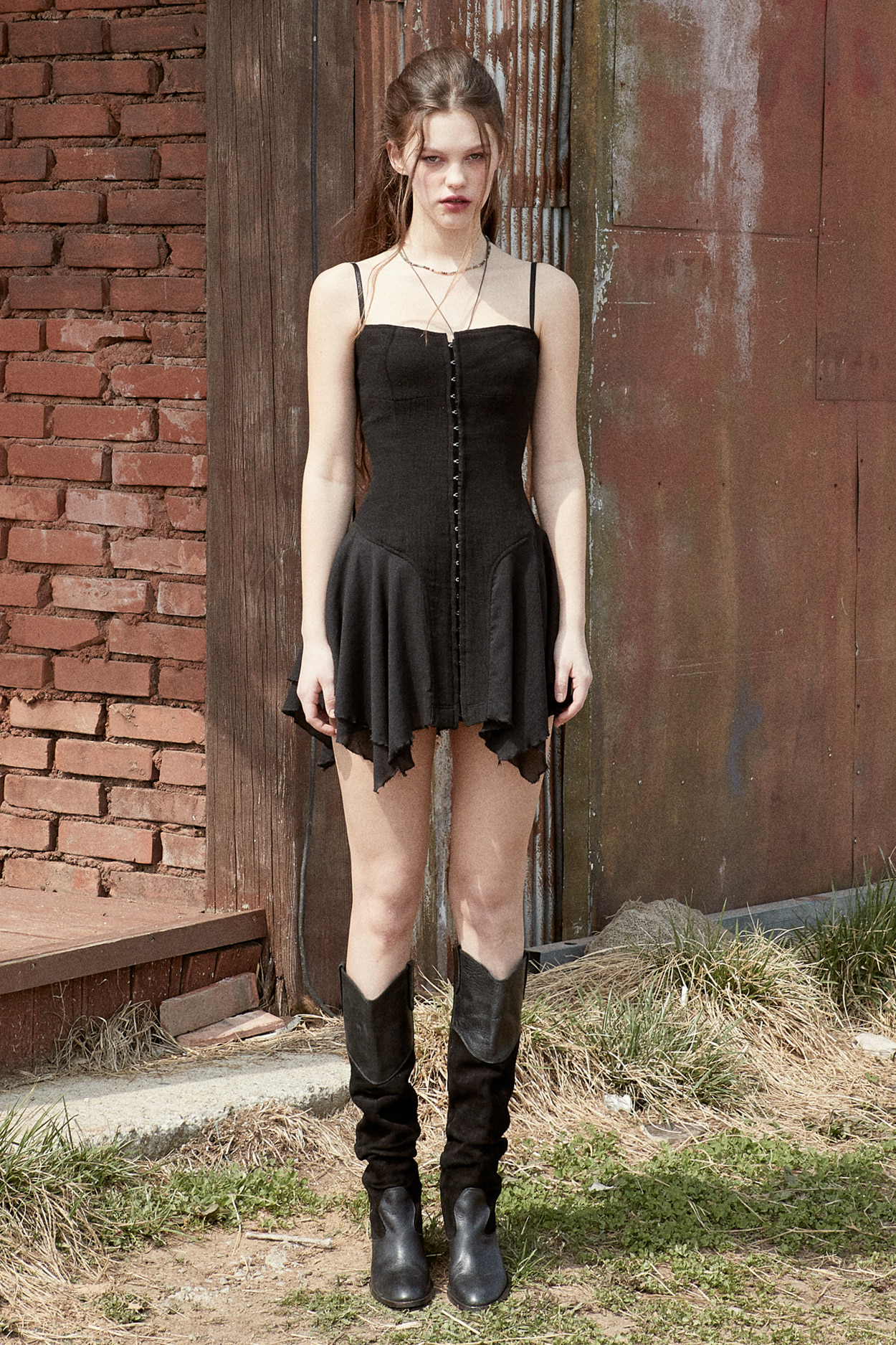 NYMPH DRESS_black [8/10 Pre-order delivery]