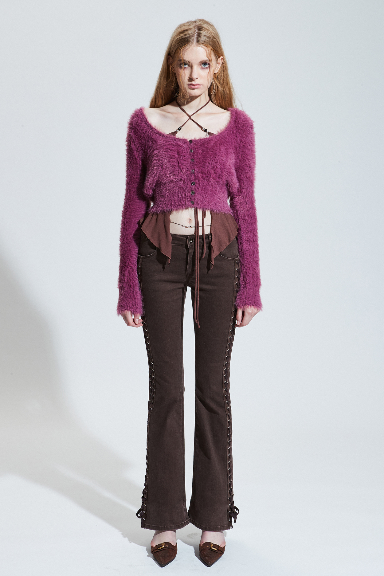 SIDE CORSET PANTS brown [Sep.23th Pre-order delivery]