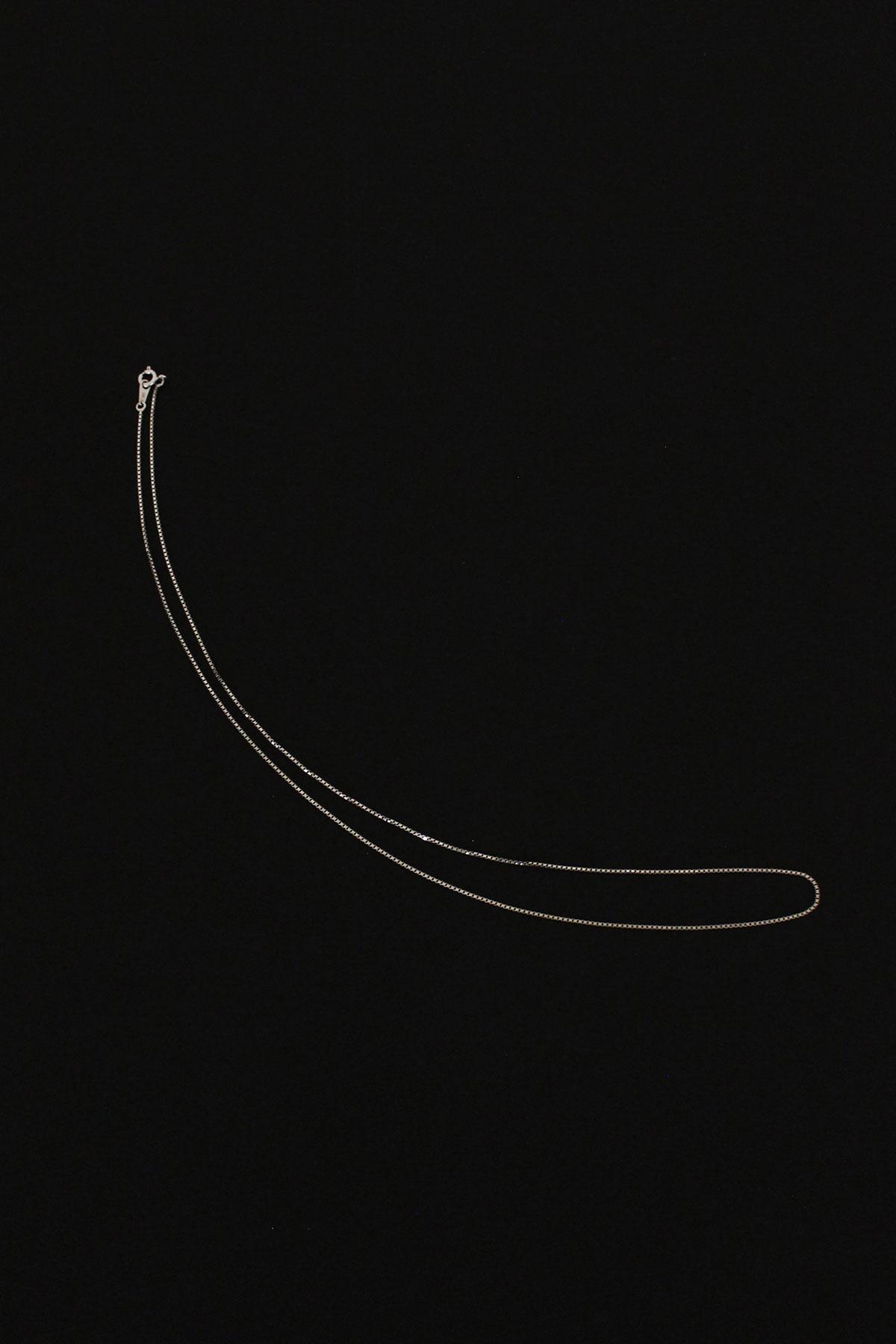 (925 SILVER) 60CM SQARE CHAIN NECKLACE (2차 입고)
