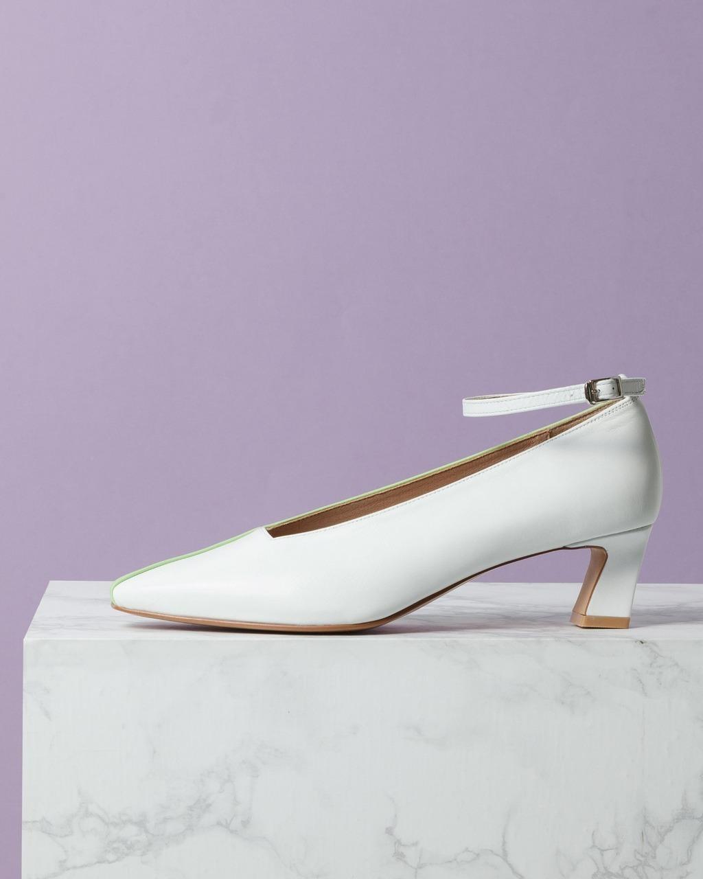 DORATORE Sacchi White-Mint - Women's Shoes : Republic of Korea