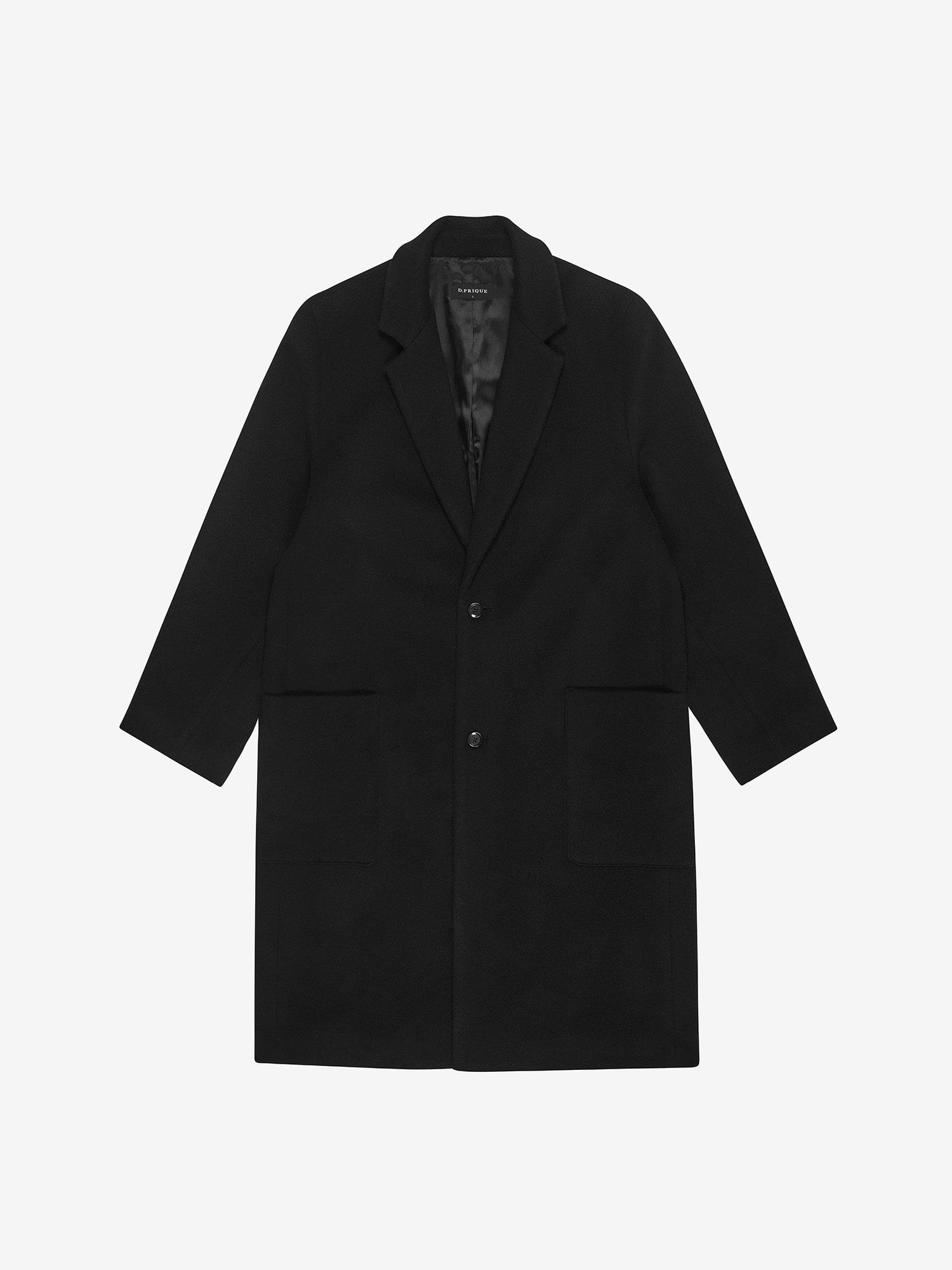 CASHMERE WOOL COAT - BLACK