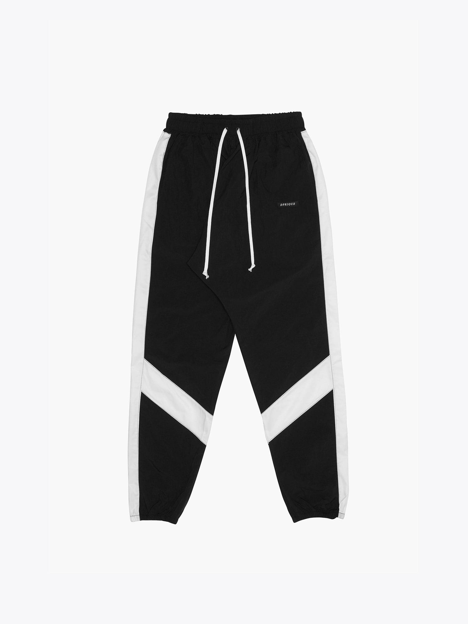 Contrast Track Pants Black/White