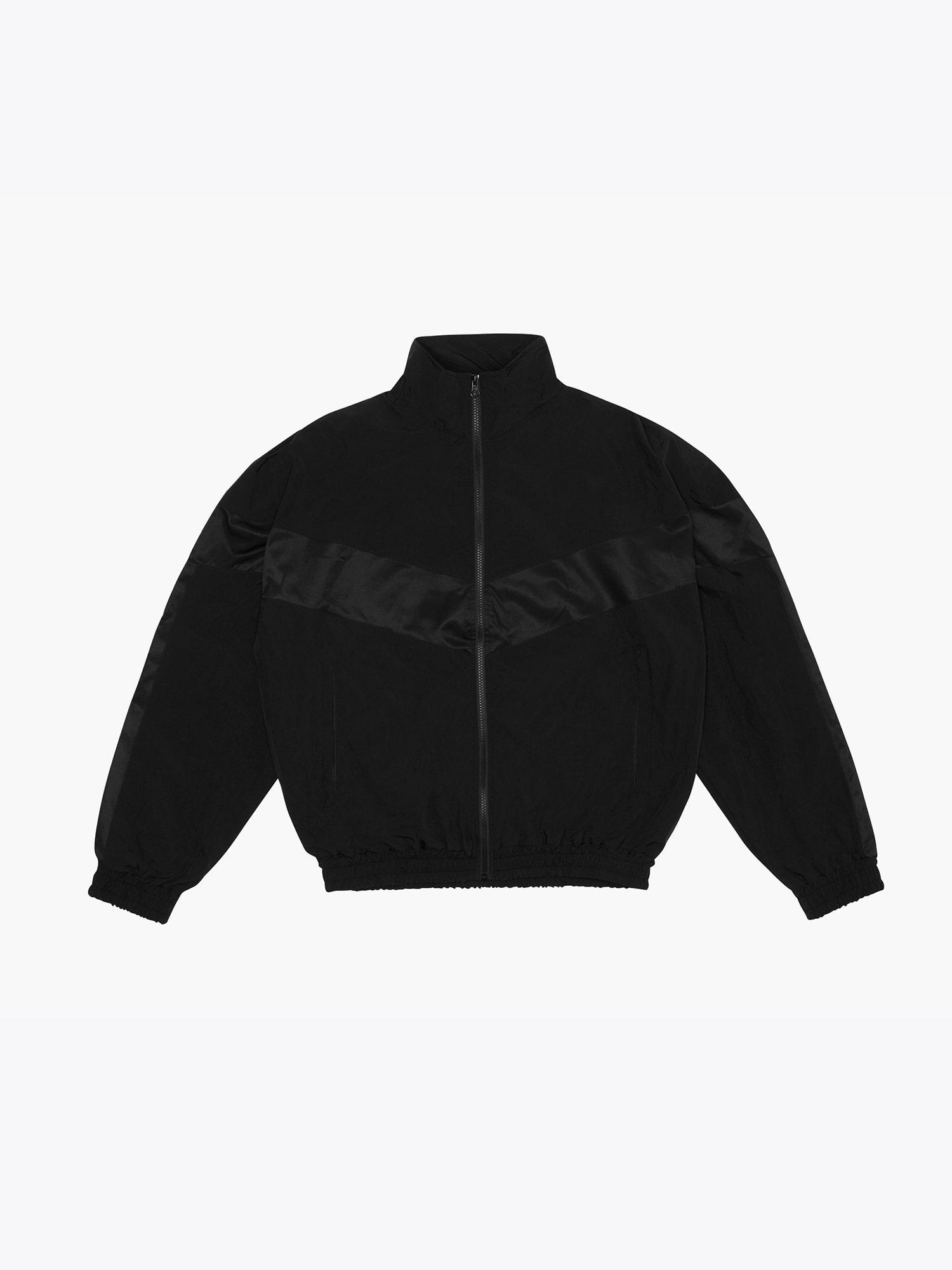 Contrast Track Jacket Black/Black