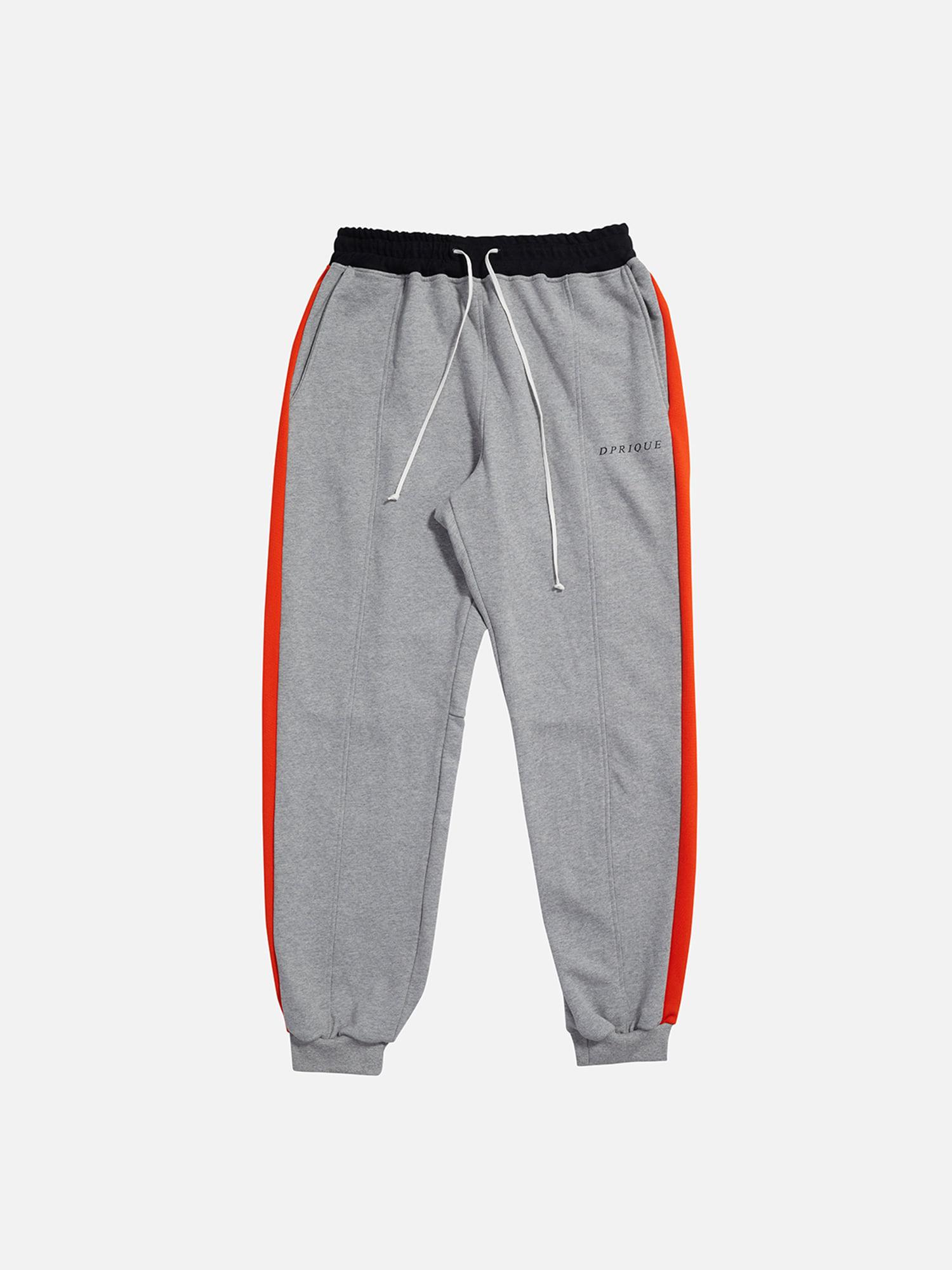 07 Track Jogger Pants - Grey/Orange