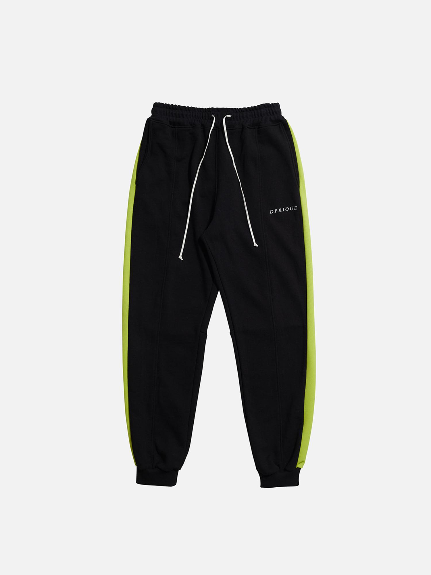 07 Track Jogger Pants - Black/Neon