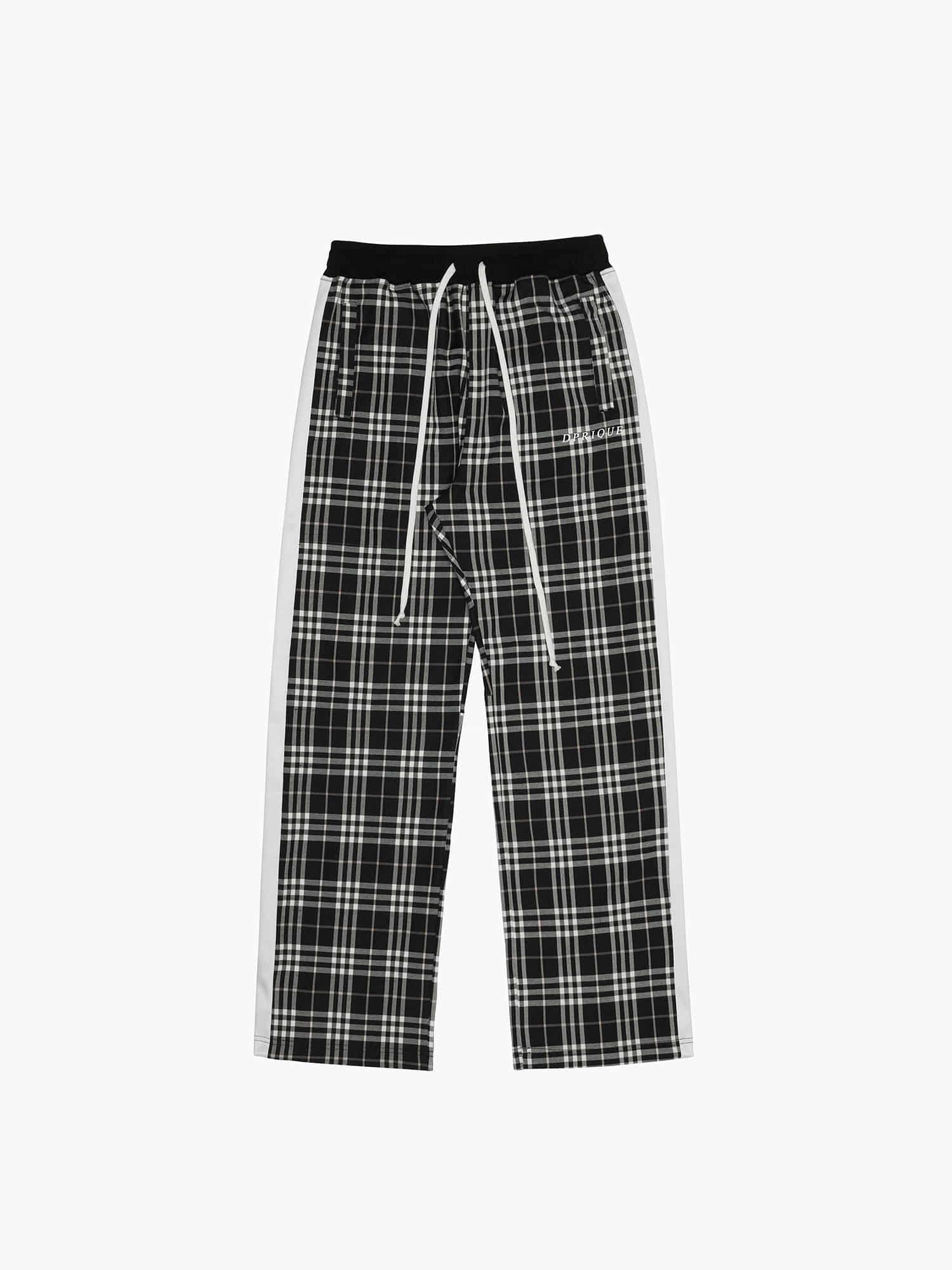 Check Track Pants Black/White