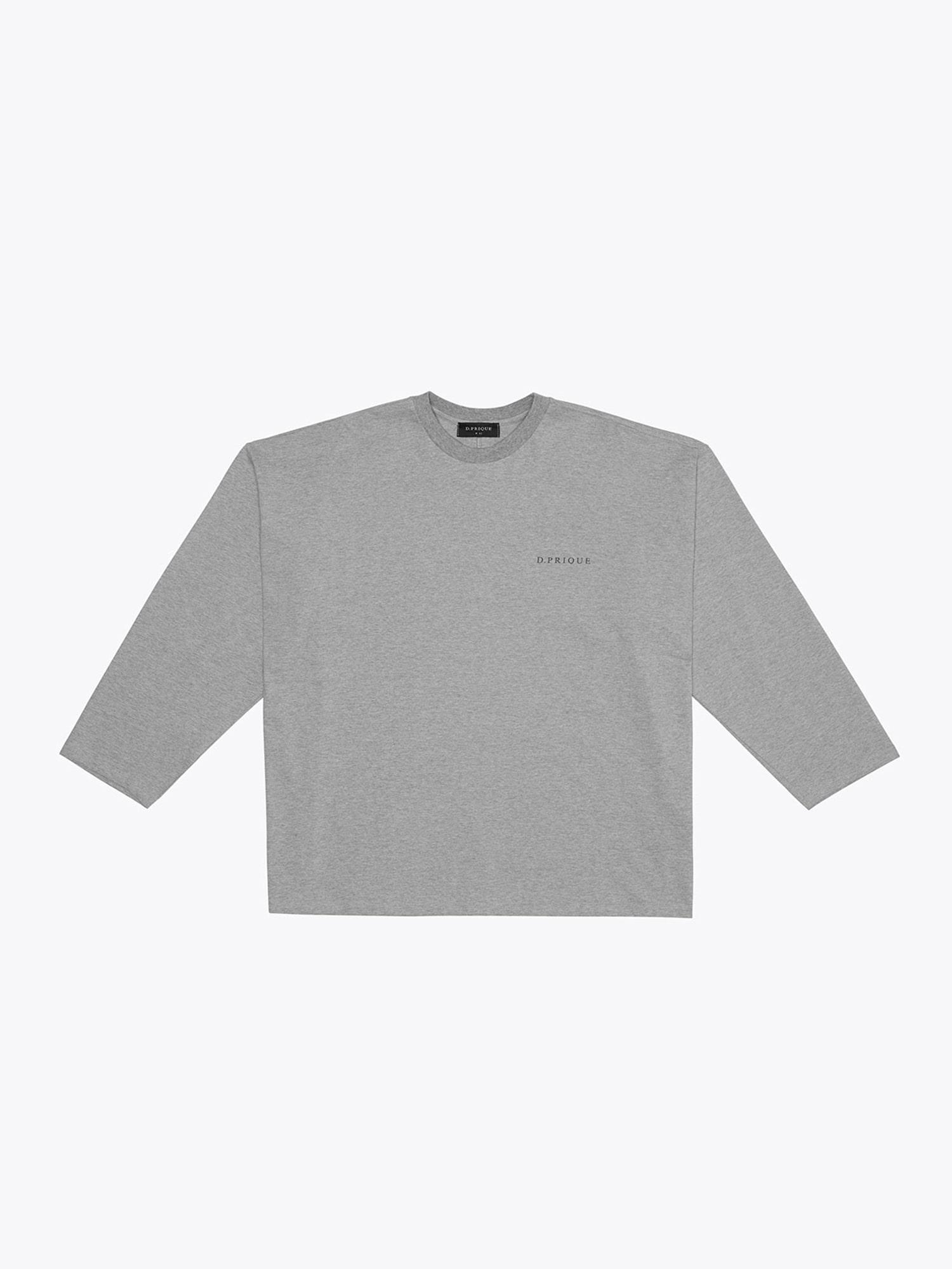 Oversized Long Sleeve T-Shirt - Grey
