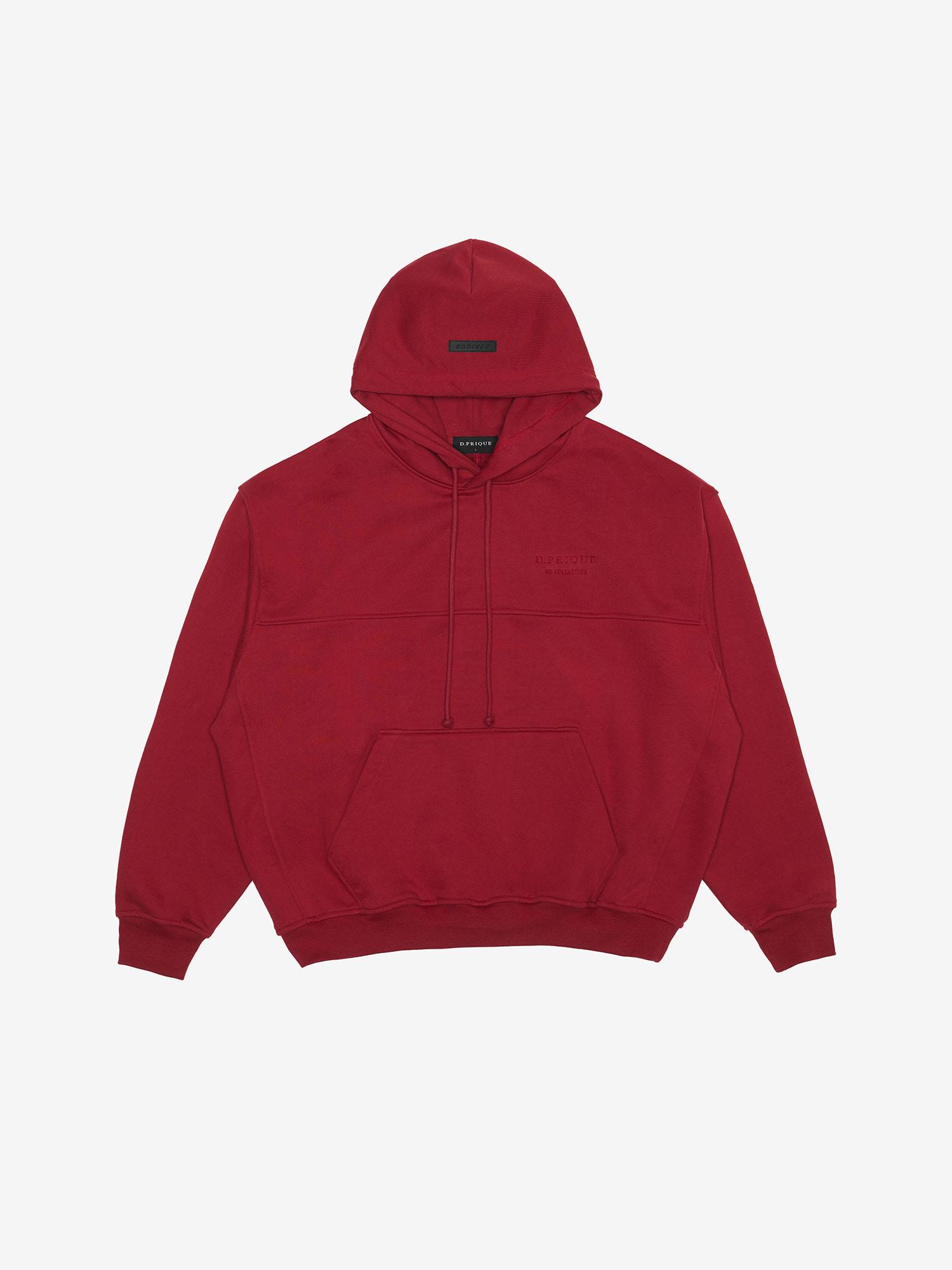 06 Oversized Hoodie - Deep Red