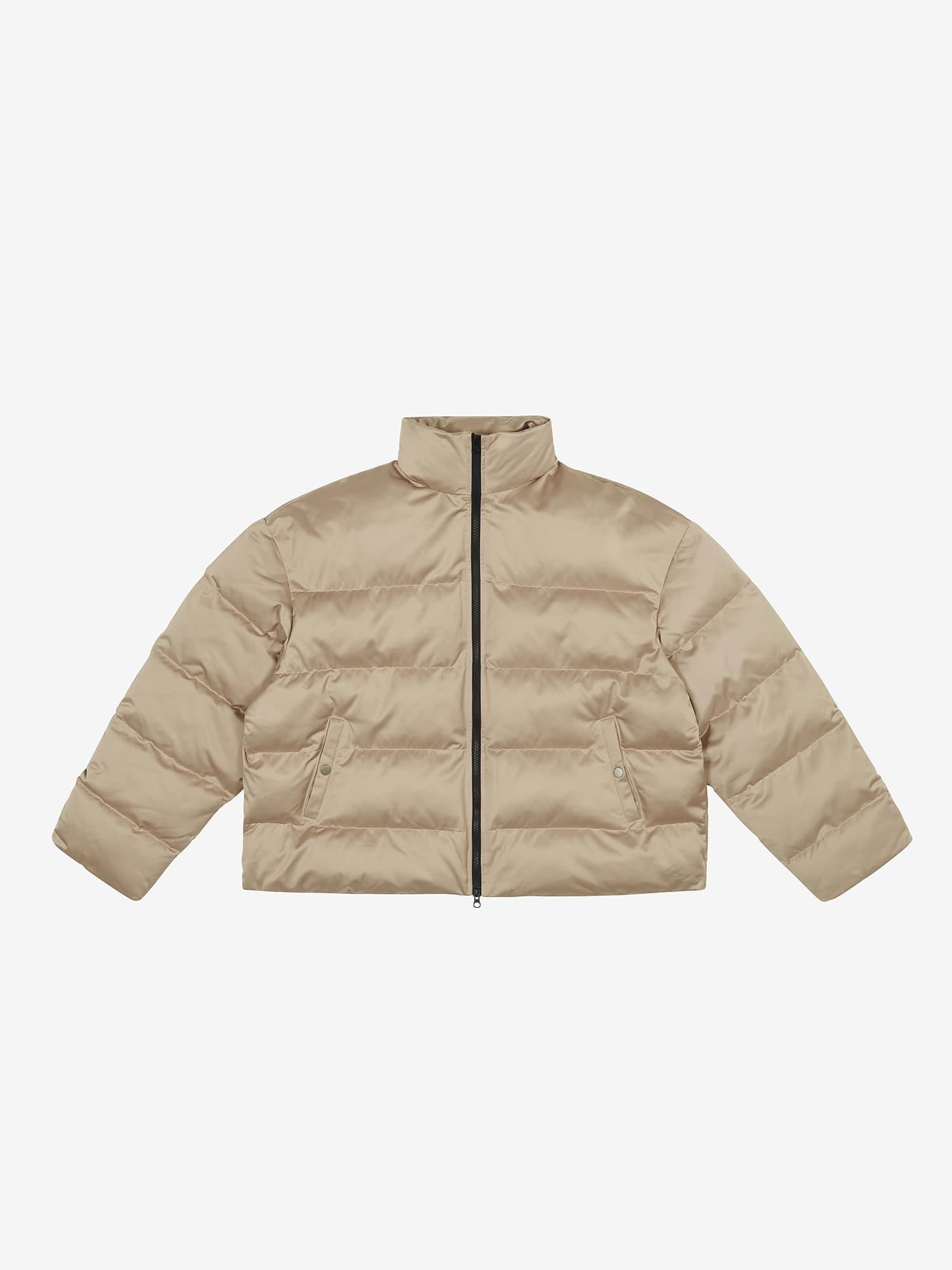 Oversized Padded Jacket - Beige