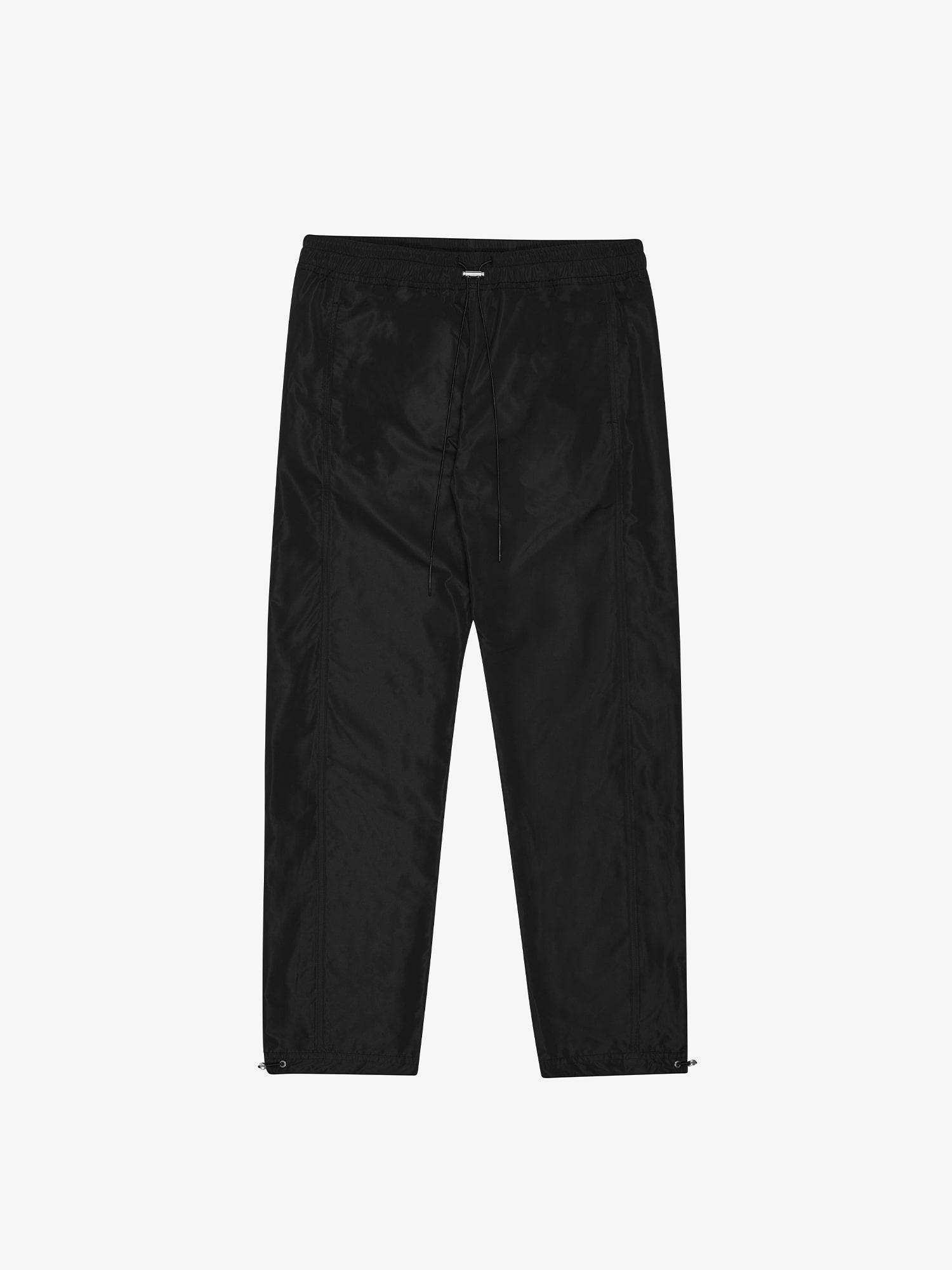 PANELLED TRACK PANTS - BLACK