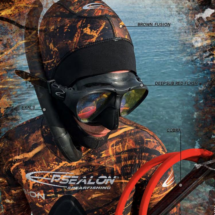 [2A4155] EPSEALON Brown Fusion 5mm Wetsuit