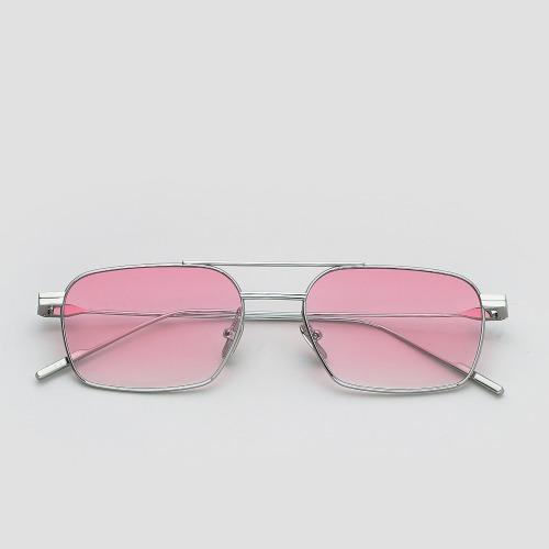 젠틀몬스터 2021 신상 선글라스 레이브 02 실버 메탈 핑크 틴트렌즈 선글라스