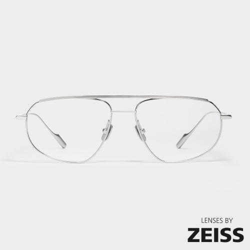 젠틀몬스터 래플스 02 실버 티타늄 보잉 투브릿지 레트로 안경