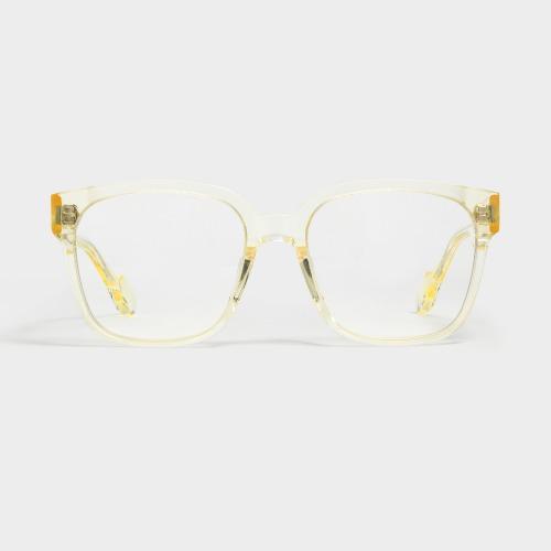 젠틀몬스터 카밀 C2 옐로 클리어 투명 뿔테 사각 빅사이즈 안경테