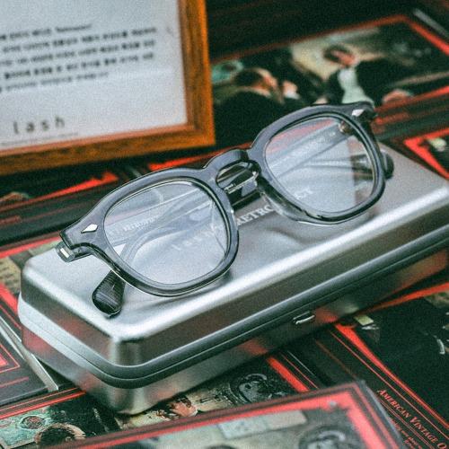 래쉬 클리프트 클리어그레이 빈티지 투명 뿔테 안경