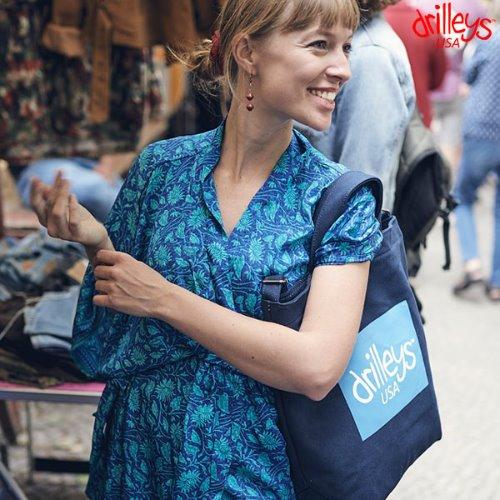 Drilleys Eco Cross Bag Navy Blue