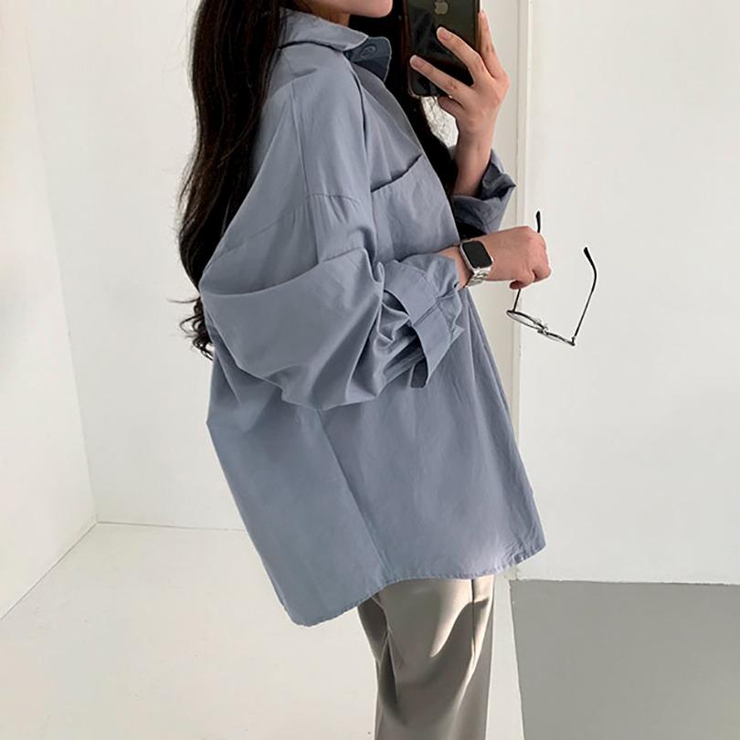 🚀당일발송│내추럴한 텍스쳐 [오버핏]노멀셔츠 3color