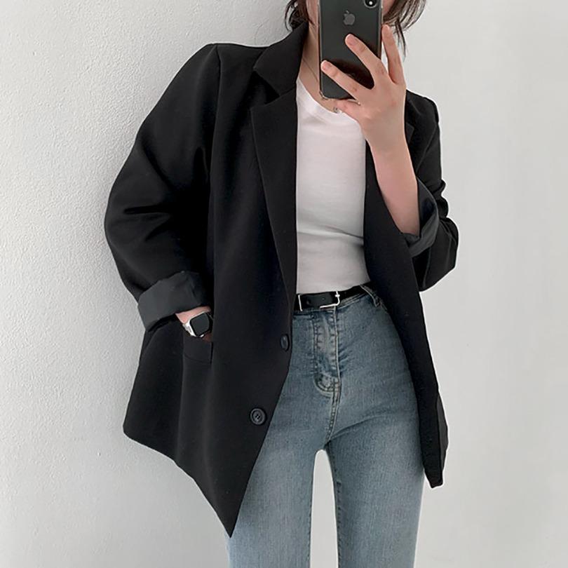 [어깨뽕없는]스탠다드한 핏감에 끌리는, 드립커피백 자켓